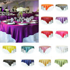 """57"""" Satin Square Tablecloth Table Cover Wedding Party Restaurant Banquet Decor"""