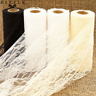 """6""""x10YD Lace Roll Runner Mesh Chair Sash Ties Wedding Party Table Decoration"""