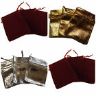 25x QUALITY GOLD SILVER LAME ORGANZA WEDDING FAVOUR JEWELLERY GIFT BAGS UKSELLER