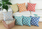 "Square Pillows Shells Cushion Throw Cover Circles Rings Dots Geometric 18""X18"""