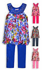 Girls Legging Set New Kids Floral Tunic Dress Top Summer Outfit Ages 2-10 Years