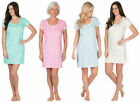 Ladies Nightie 100% JERSEY COTTON Nightdress Low Cut Short Sleeve Buttoned Soft