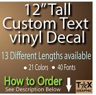 "12"" TALL CUSTOM Vinyl Lettering Decal  Personalized Sticker"