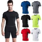US Mens Compression Under Base Layer Sports Gear Wear Athletic Shirt Tight Tops