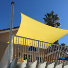 Canary Yellow Sun Shade Sail Permeable Canopy Lawn Patio Pool Awning W/8'' Kit
