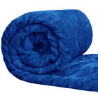 Faux Fur Mink Blanket Sofa Bed Throw Single Double & King Sizes - Blue