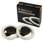 Procircle Wood Gymnastic Olympic  Rings with Buckle Straps Gym Strength Training