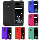 For LG Phoenix 3 / Fortune Rugged Thick Silicone Grip Soft Skin Case Cover