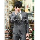 Fashion Mens Slim Fit Groom Tuxedo Wedding Dress Formal Suits Coats Pant 3 Piece
