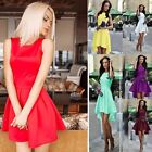 Womens Dresses Sleeveless Skirt Irregular Cocktail Dress Fashion Summer Dress