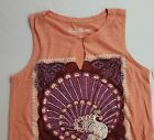 NWT Lucky Brand Loose Fit Orange Graphic Tank  Good Luck   Choose Sz   L2015