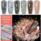 Holographic Laser Glitter Nail Art Powder Dust Chrome Pigment Manicure DIY Tips