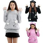 Cat Lovers Hoodies Pouch Pet Dog Hooded Pullover With Ears Sweatshirt S-4XL US