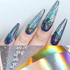 Holo Laser Stripe Tape Wave Line Nail Art Foils Stickers Decal Manicure Tips