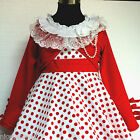 US W3122 Red White Wedding Party Girls Dress + Cardigan SET SIZE 2,3,4,5,6,7,8T