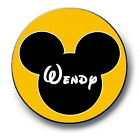 "Disney inspired mouse ears  Personalized 2.25"" Pinback Button or magnet"