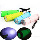 Portable Outdoor Camping  Sports cycling 9 LED Lamp Mini Blue light Torch 3*AAA