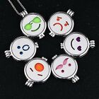 Charm Emoji Aromatherapy Oil Perfume Diffuser Necklace+2p glow & 5p Cotton Pads
