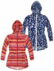 Girls Printed Lightweight Parka In A Pocket Jacket New Kids Cagoule Age 2-10 Yrs