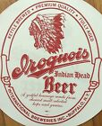 Vintage Iroquois Indian Head Beer Sign Buffalo NY Advertising 2 Sided Excellent