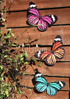 Large Metal Butterfly Colourful Wall Art Summer Garden Fence Home Decorations