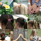 5x Girl Elastic Hair Tie Band Knotted Hairband Ponytail Holder Styling Ropes Set