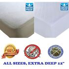 WATERPROOF MATTRESS PROTECTOR BUNK COT 4FT SINGLE DOUBLE KING TERRY / QUILTED