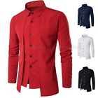 Luxury Men Casual Shirt Long Sleeve Formal Business Slim Dress Shirt T Shirt Top