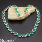 """Mother's Day 75%OFF. Hermosa New 925 Sterling Silver Emerald Women Necklace 16"""""""