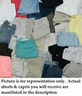Lot 30 Brand Name Women Jr Misses Ladies Shorts & Capri Used Pre-owned wholesale