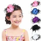 Bow Hair Clip Hat Shape New Floral Feather Black Lace Headdress Girls Fashion