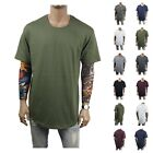Men T-Shirt Long Extended Basic Fashion Tee Lot Casual Tee Crew Neck Hipster Tee image