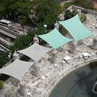 Turquoise Waterproof Terylene Woven Shade Sail Sun UV Protection Garden Pool Top