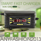 12V 10A 6A Smart Car Motorcycle Lead-acid Battery Charger LCD Display US/EU Plug