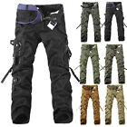 MENS FASHION ARMY CARGO CAMO COMBAT MILITARY COTTON WORK TROUSERS CASUAL PANTS~