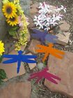 metal dragonfly garden art - Dragonfly metal garden art w/ detachable stake and wall hanger - pick your color