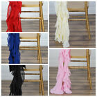 25 Chiffon Curly Chair Sashes Wedding Party Reception Decorations WHOLESALE