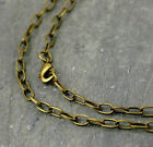 Antique Bronze Plated Belt Link Cable Chain Necklace chains 3.8mm cn222b
