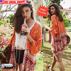 Womens Summer Floral Casual Beach Coat Loose Blouse kimono Jacket Cardigan