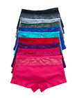 Gift Pack Lot 1 6 12 Boy shorts Adult Lace Plain Cotton Boyshort Panty S/M/L/XL