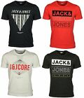 MENS NEW TSHIRT SHORT SLEEVE JACK & JONES IN BLACK DARK NAVY WHITE COLOURS S-XL