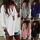 Fashion Summer Women's Ladies V-neck Loose Baggy Casual Chiffon Blouse T-Shirts