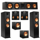 Klipsch 5.2 System with 2 RP-280F Tower Speakers, 1 RP-450C Center Speaker, 2 Kl