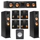 Klipsch 7.1 System with 2 RP-260F Tower Speakers, 1 RP-440C Center Speaker, 4 Kl