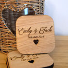 Wooden Wedding Table Coaster Favours - Personalised Keepsake Favour for Guests