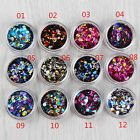 DIY Nail Art Fish Scale Shiny Round Sequins For UV GEL Acrylic Decoration Tips