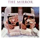 New 9H glass film + soft TPU mirror case cover 3D bling bear stand handfree