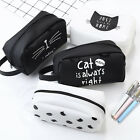 Yoocart Student Stationery Cute Cats Silicone Long Zipper Pencil Case Pen Bag