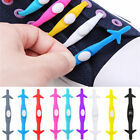 12PCS New Elastic Silicone Easy No Tie Shoelaces Shoe Lace Set For Adults Kids