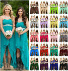 High Low Long Bridesmaid Dress Prom Dress Cocktail Evening Party Gown Size 6-20